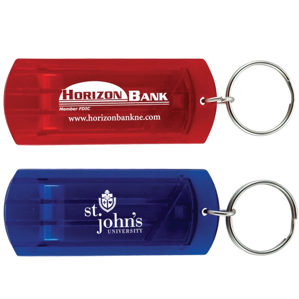 Rectangular Whistle Key Tag Photo
