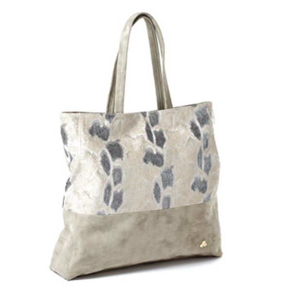 "Jemma Collection - Light Gray Snakeskin Tote Bag, 14"" X 17"" X 3"" Photo"