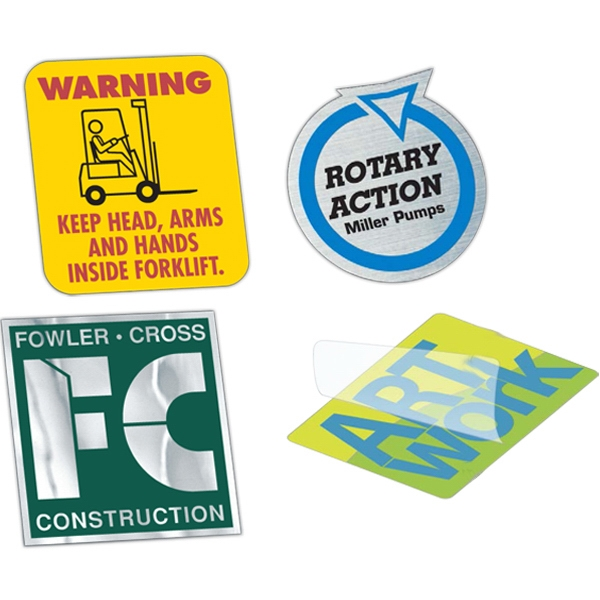 Yellow - 6 To 10 Square Inches - Overlaminated Custom Shape Vinyl Decal With Permanent Adhesive Photo