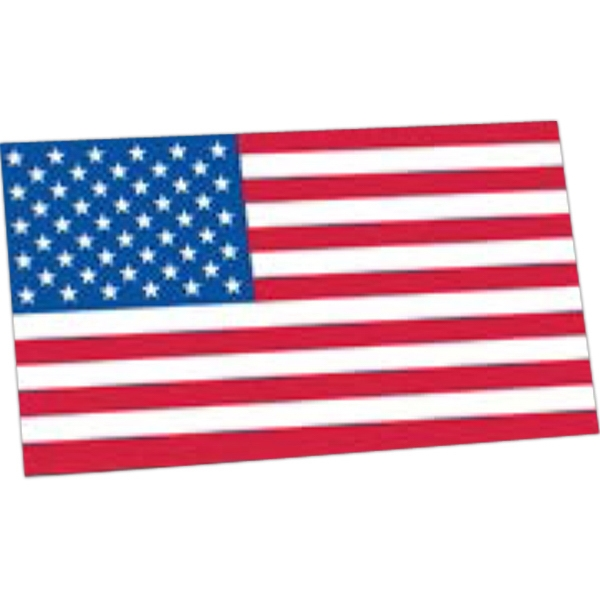 "2 1/4"" X 4"" - Premium Custom Shape Flag Decal With Removable Adhesive Photo"