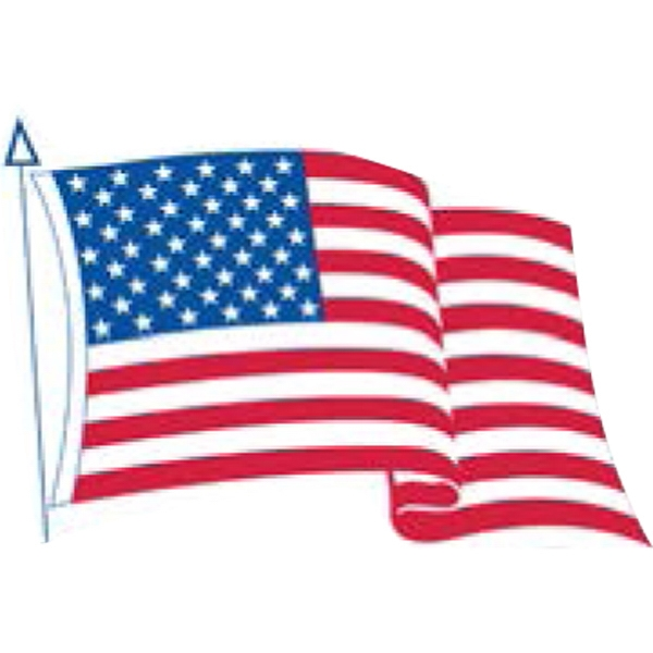 "3 1/4"" X 4"" - Premium Custom Shape Flag Decal With Removable Adhesive Photo"
