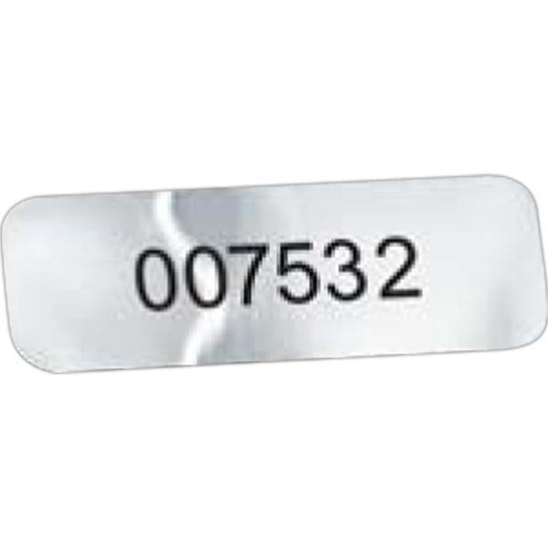 "Rectangle Idento Vinyl Identification Decal (1/2""x1 1/2"")"