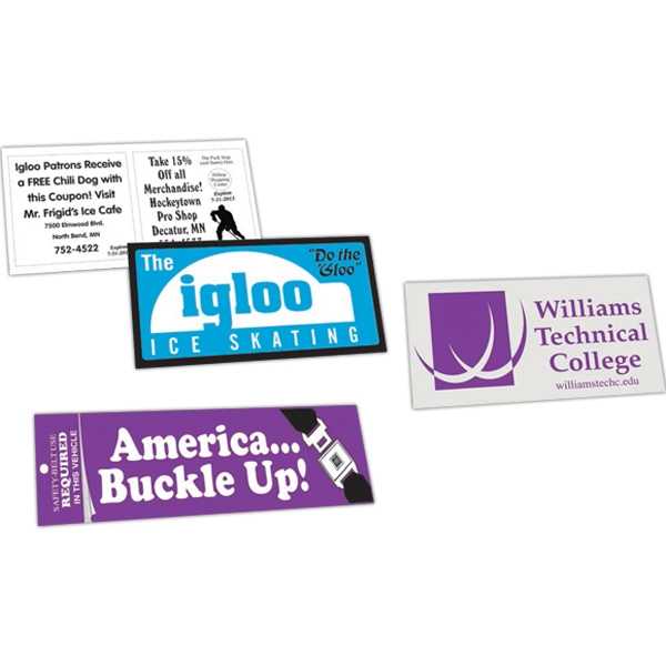 "Zip-strip (r) - Ultra Removable Adhesive Vinyl Bumper Sticker. 3 3/4"" X 7 1/2"" Photo"