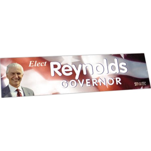 "Zip-strip (r) - Offset Full Color - Full Color Vinyl Bumper Sticker With Ultra Removable Adhesive, 3"" X 11 1/2"" Photo"