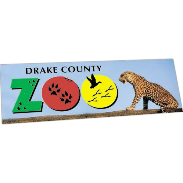 "Zip-strip (r) - Offset Full Color - Full Color Vinyl Bumper Sticker With Ultra Removable Adhesive, 3 3/4"" X 11 1/2"" Photo"