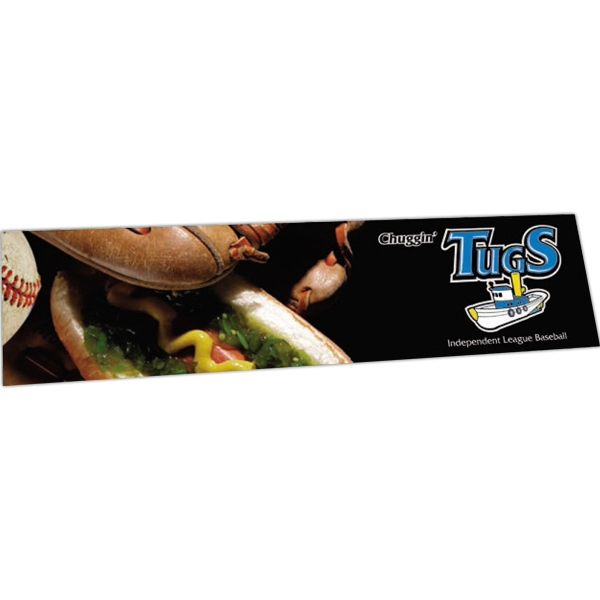 "Zip-strip (r) - Offset Full Color - Full Color Vinyl Bumper Sticker With Ultra Removable Adhesive, 3 3/4"" X 15"" Photo"