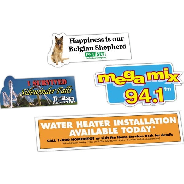 Zip-strip (r) - 11 To 17 Square Inches - Custom Bumper Sticker With Ultra Removable Adhesive, Screen Imprint Photo