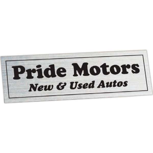 "Car-cals (r) - 1 3/8"" X 4 3/8"" - White Reflective Stock Shape Polyester Permanent Adhesive Decal Photo"