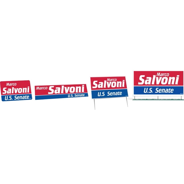 One Color - Political Campaign Kit With Lapel Stickers, Bumper Stickers, And Signs Photo