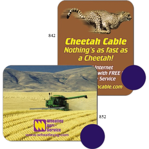 "1 Color - Sublimated Soft Mouse Pad, 6"" X 7 1/2"", With 1/16"" Thick Black Rubber Backing Photo"