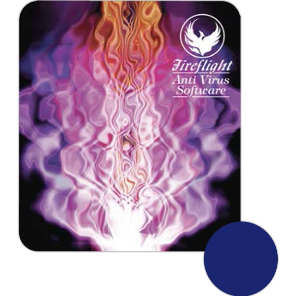 "Full Color - Ultra Thin Hard Surface Mouse Pad, 7 1/2"" X 8 1/2"", With Repositionable Backing Photo"