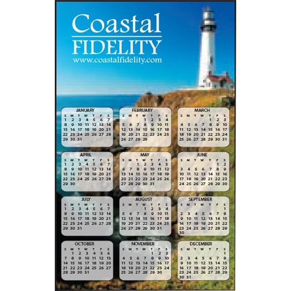 "Full Color Calendar Magnet With 2 1/4"" X 3 3/4"" Imprint Area Photo"