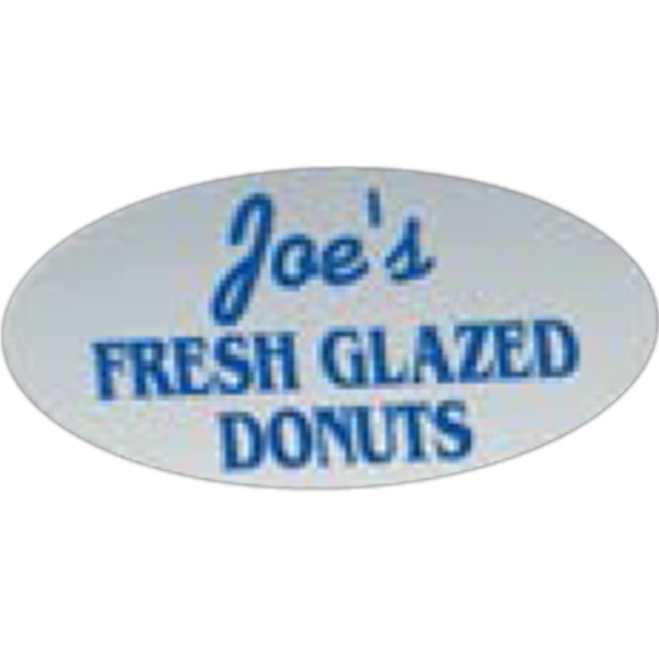"1 Color - 1/2"" X 1"" - Oval Shape Die Cut Roll Labels Photo"