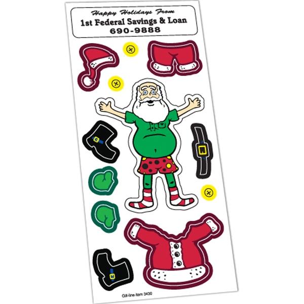 Peel N Play Christmas Sticker Sheet (Santa Claus & Clothing)