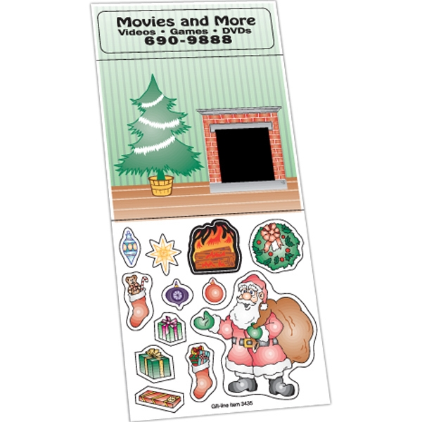 Peel N Play Christmas Sticker Sheet (Santa's Toy Delivery Sc