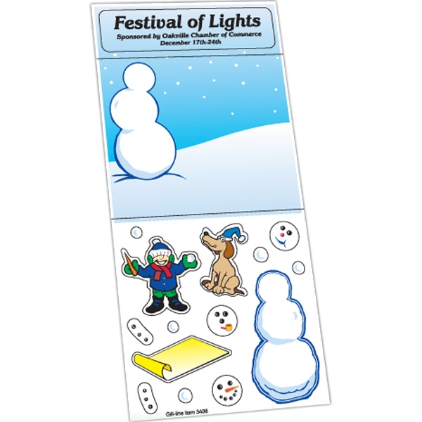 Peel N Play Christmas Sticker Sheet (Snowman Scene)
