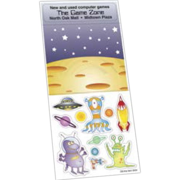Sticker Sheet Collection - White gloss paper sticker sheet collection with repositionable adhesive.