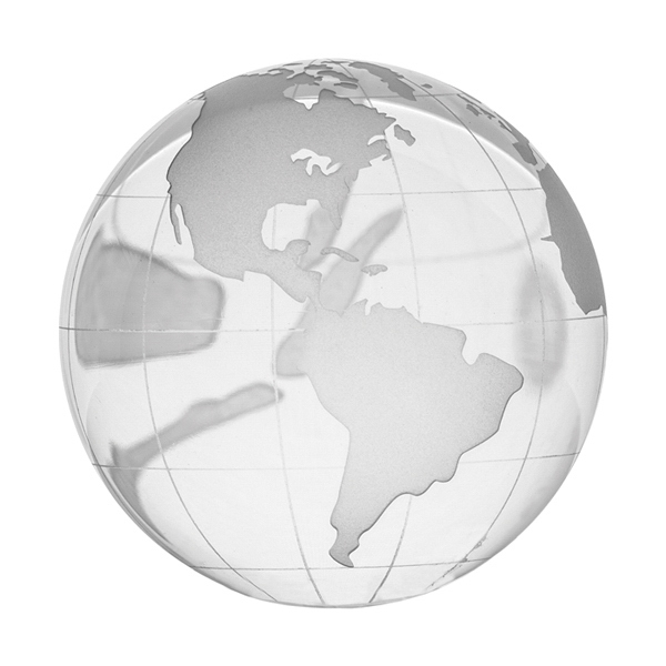 Fun Size Glass Globe Paperweight. Comes In Blue Presentation Box Photo