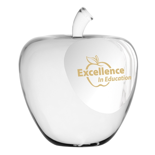 Simple & Elegant Genuine Optic Crystal Apple Paperweight Photo