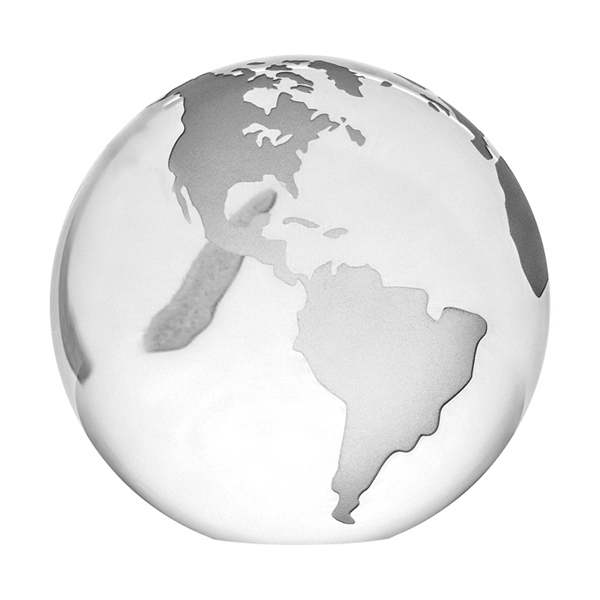 Optical Crystal Globe Paperweight Photo