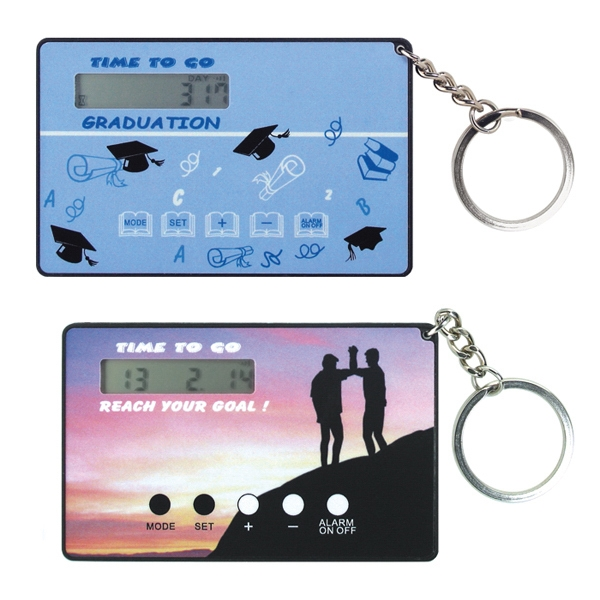 Card Size Countdown Clock With Key Ring Photo