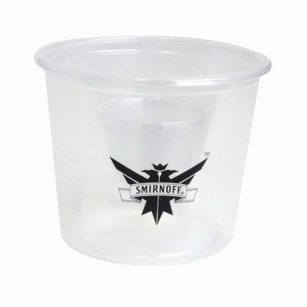 500 Line - 4 Oz., Clear Bomber Cup Photo
