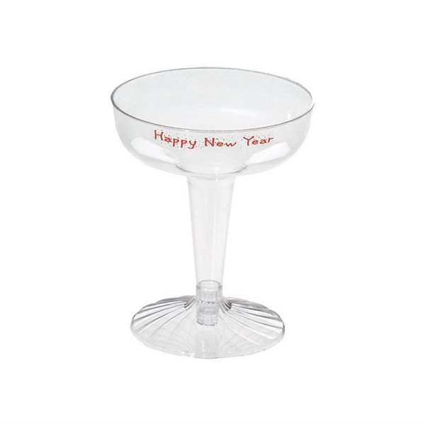 500 Line - 10 Working Days - Two-piece 4 Oz. Champagne Glass Photo