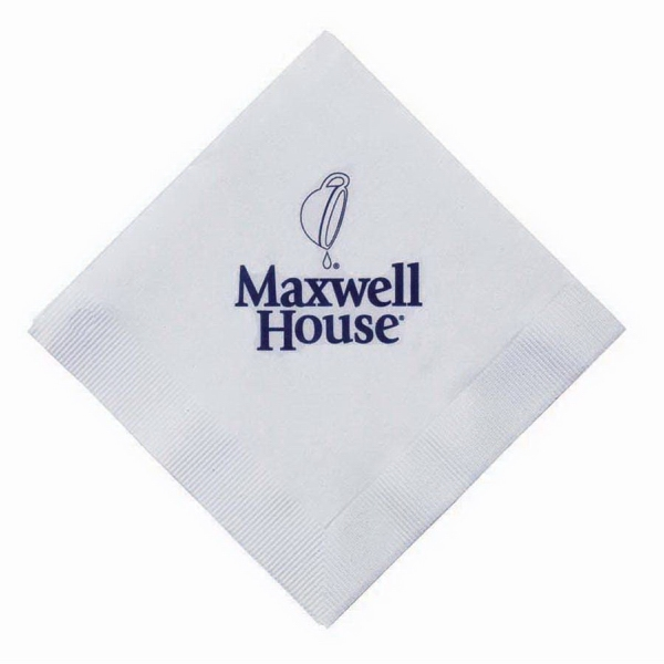500 Line - White Folded Three Ply Beverage Napkin, Made From Recycled Materials Photo