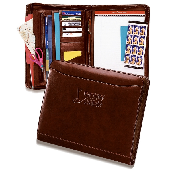 Atlantis - Leather Portfolio Features Pop Up, Self Adhering Note Holder, And Standard Note Pad Photo