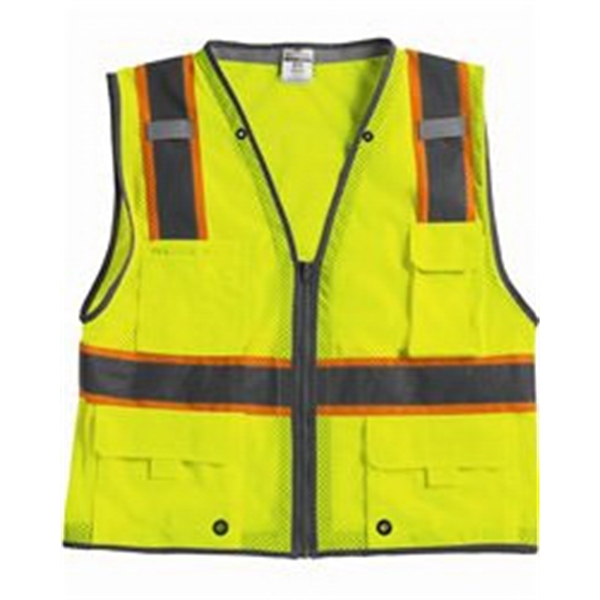 Ml Kishigo - L- X L - Orange Class 2 Vest With Reflective Trim. Blank Product Photo