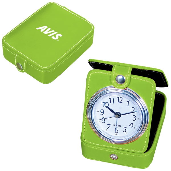 "Travel Alarm Clock With Second Hand, 3"" X 3.75"" X 1"" Photo"