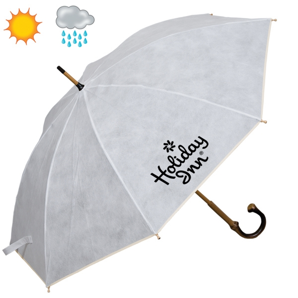 Non Woven Executive Umbrella With Bamboo Shaft Photo