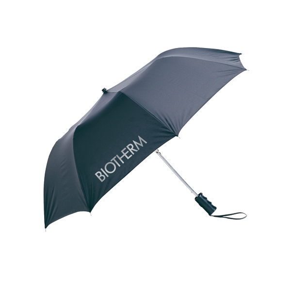 "Recycled Folding Umbrella, 21"" Rib Length, 42"" Arc, Fold Down To 15"" When Closed Photo"