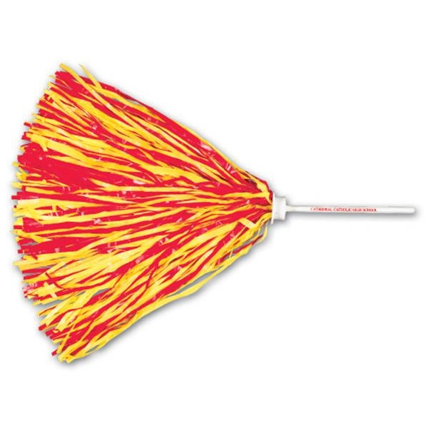 "Pom With 6"" White Plastic Handle And 500 Streamers Photo"