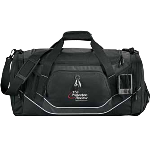 Dunes - Black 600d Polycanvas Deluxe Sport Duffel Bag With Haul Handle Photo