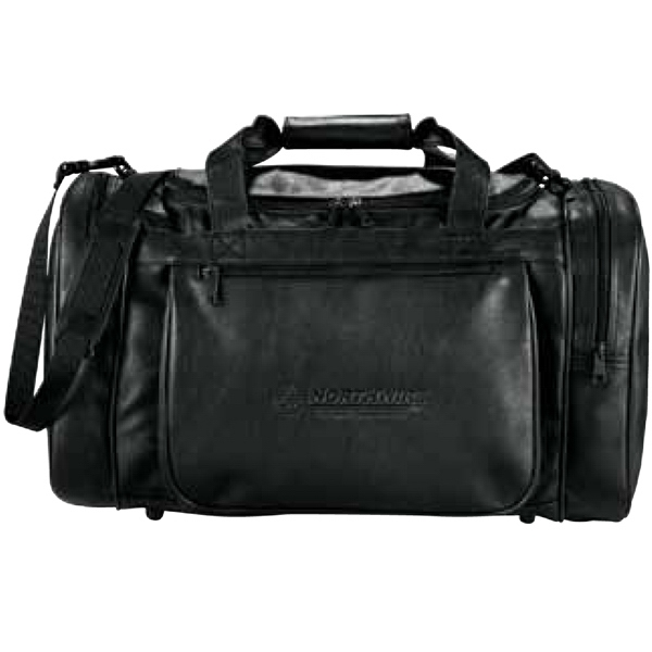 Black Durahyde Duffel Bag With Zippered Main Compartment Photo