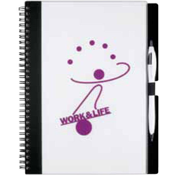 Essence Journalbooks (r) - Large Spiral Bound Lined Paper Journal With Elastic Pen Loop Photo