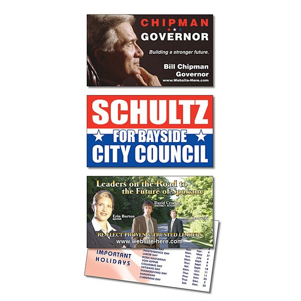 Political Laminated Business Card - 3.5 X 2 (2-sided) Photo