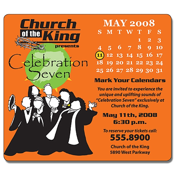 "Religious Calendar Magnet - 3.5"" X 4"" Rectangle With Round Corners - 25 Mil Photo"