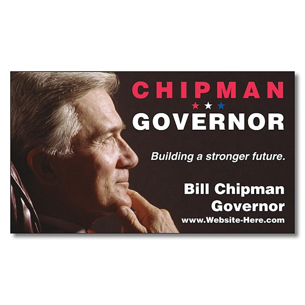 "Political Business Card Magnet - 3.5"" X 2"" Rectangle With Square Corners - 25 Mil Photo"