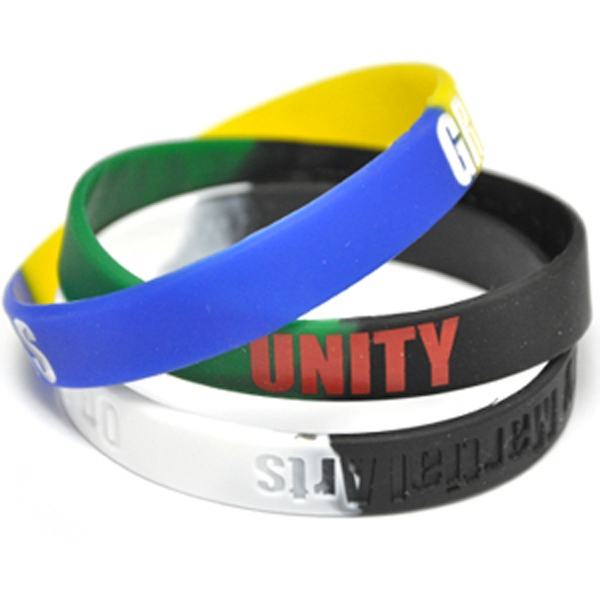 Segmented Color Filled Wristband
