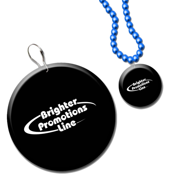 "Black 2 1/2"" Medallion Badge"