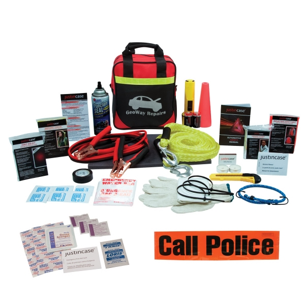 Highway Standard - Auto Kit, 51 Pieces. Includes Shop Cloth, First Aid Kit, And More Photo