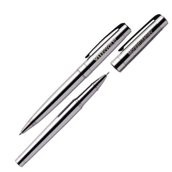 Newport - Gunmetal Pen Set With Rollerball And Twist Action Pen Photo