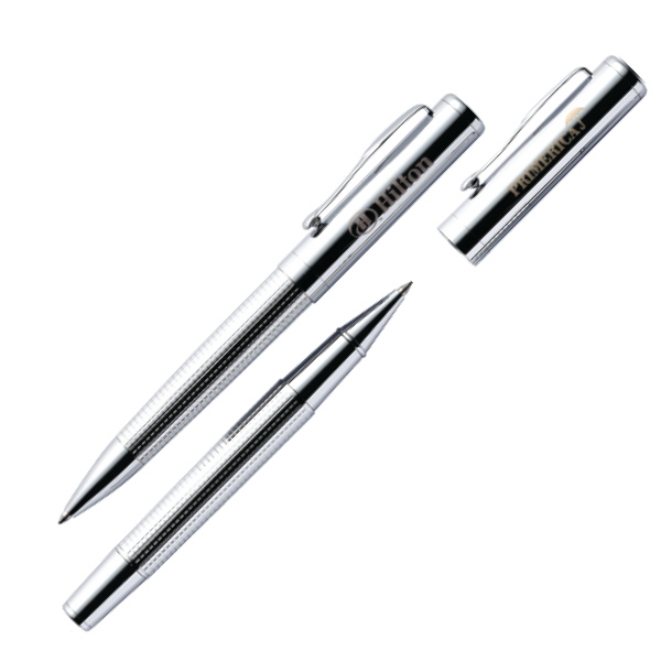 Fairfax - Chrome Pen Set With Rollerball And Twist Action Pen Photo