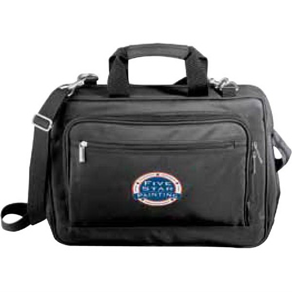 "Metro (r) - Black Microfiber Briefcase With Padded Computer Pouch, Holds A 15"" Laptop Photo"