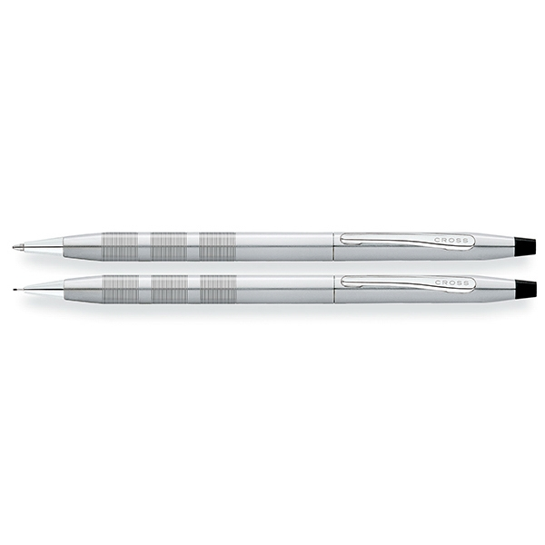 Classic Century Satin Chrome Ballpoint Pen and 0.7mm Pencil