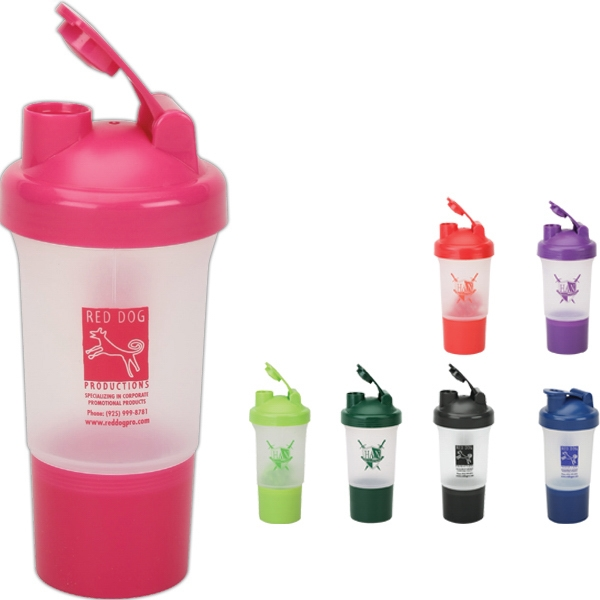 Pink - 17 Oz Protein/vitamin Shaker Photo