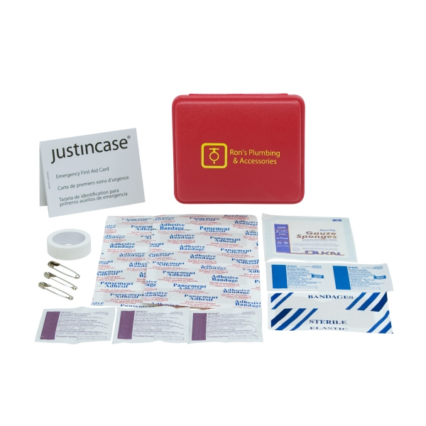 Pocket First Aid Kit With Snap Closure. 24 Pieces Including Bandages And More Photo