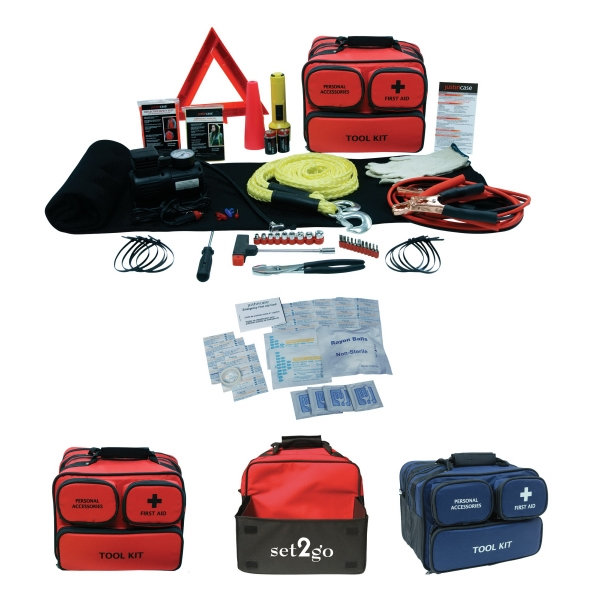86 Piece Auto Kit Which Includes First Aid, Safety Vest, And Much More Photo